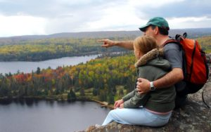Homepage - Father and Daughter Looking out at a Lake